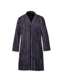 Alexandra butcher's stripe coat