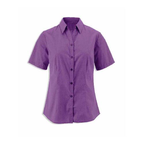 Alexandra women's woven colour short sleeved shirt
