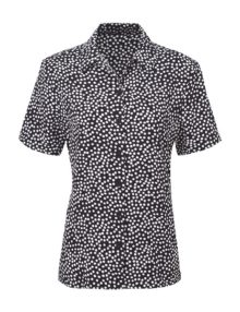 Alexandra diamond print blouse