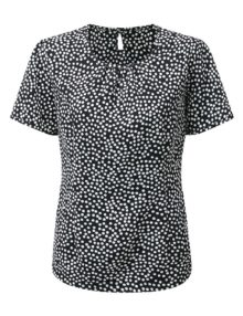 Alexandra women's round neck print blouse