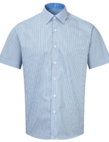 Alexandram men's short sleeve stripe shirt