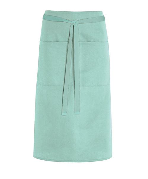 Alexandra mid length waist apron with pocket