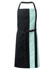 Alexandra contrast bib apron with pocket