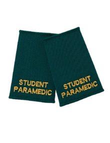 Alexandra student paramedic epaulette sliders